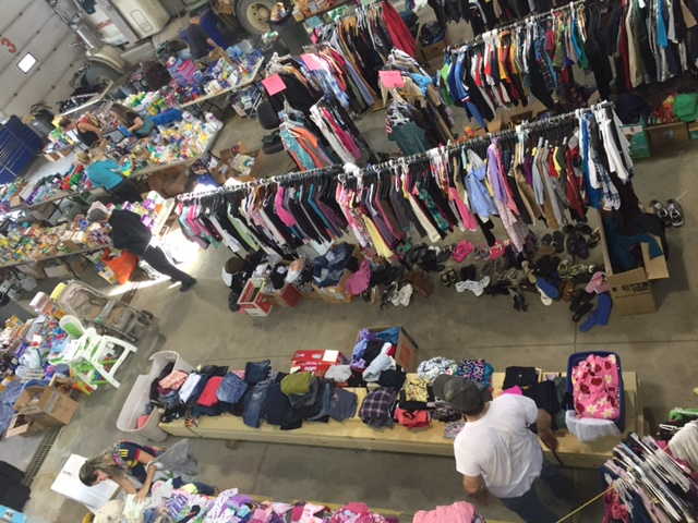 Fort McMurray evacuees - Donated clothes organized by super volunteers